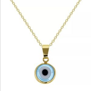 Jewelry - 18k Gold Plated Evil Eye Necklace